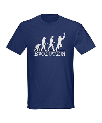 Navy Evolution Football Tee