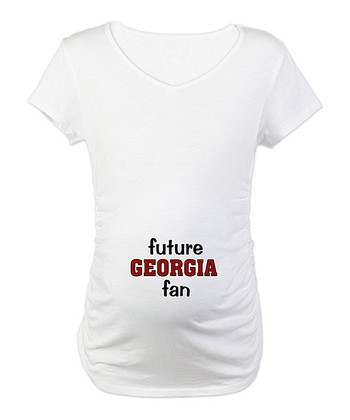 White 'Future Georgia Fan' Maternity Tee - Women