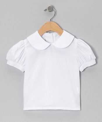 White Peter Pan Short-Sleeve Shirt - Infant