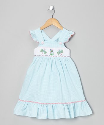 Aqua Dragonfly Smocked Jumper - Infant, Toddler & Girls