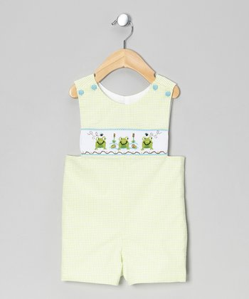 Lime Frog Smocked John Johns - Infant & Toddler
