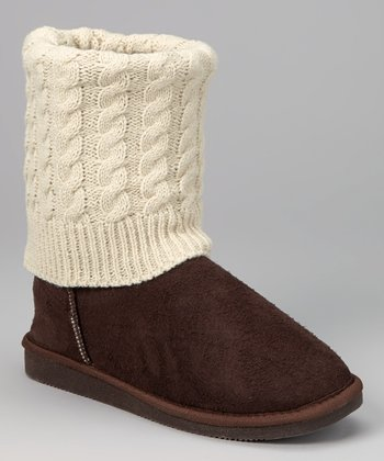 Dark Brown Sweater Boot