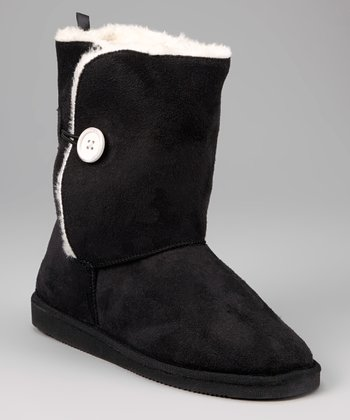 Black Toggle Button Boot