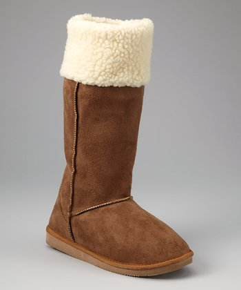 Camel Faux Fur Boot