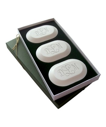 Oval Vine Monogram Soap Set