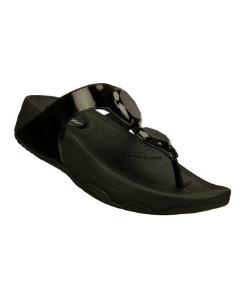 Black Hot Mod Tone-Ups Sandal