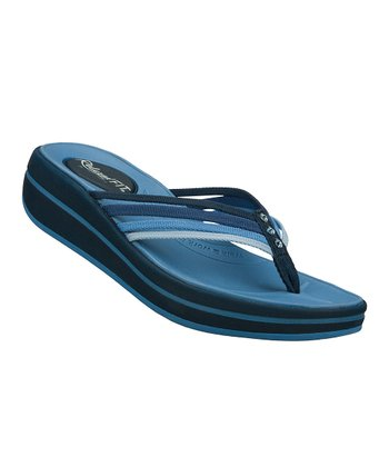 Navy Blue Caption Upgrades Sandal