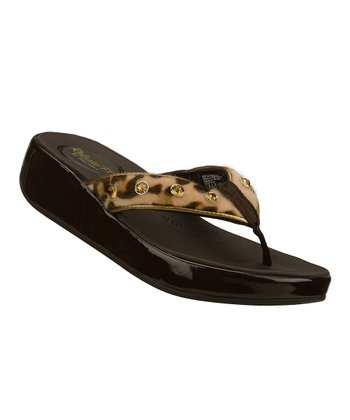Brown Leopard Traditions Upgrades Sandal
