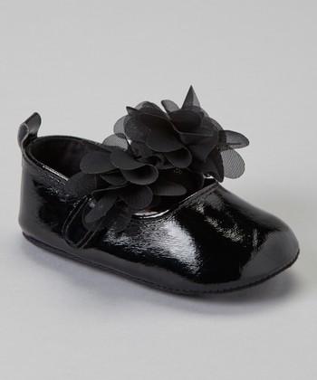 Laura Ashley Black Blossom Strap Mary Jane