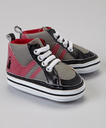 Black & Red Dahlia Hi-Top Sneaker