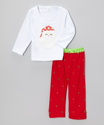 Red & White Santa Top & Pants - Infant, Toddler & Kids