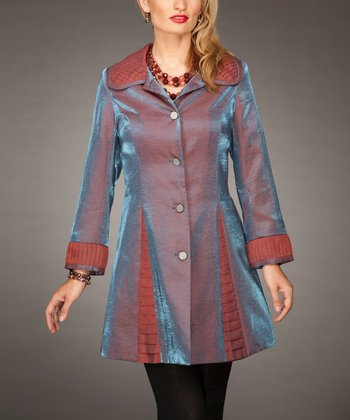 Purple A-Line Coat