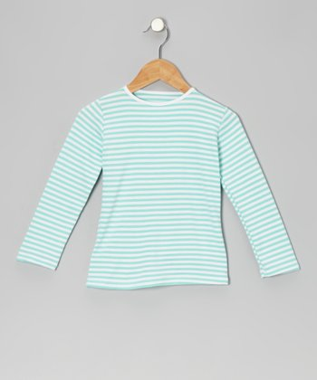 Aqua & White Stripe Top - Infant, Toddler & Girls