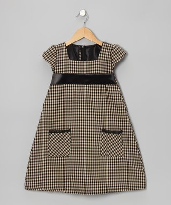 Soft Black Gingham Pocket Dress - Infant, Toddler & Girls