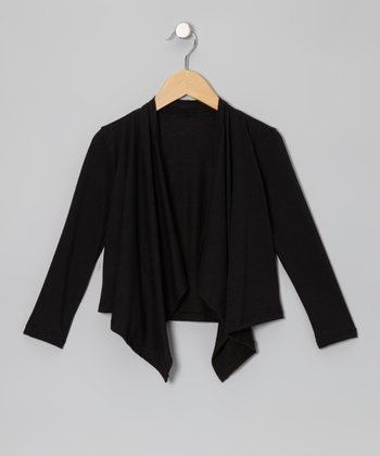Black Open Cardigan - Infant, Toddler & Girls