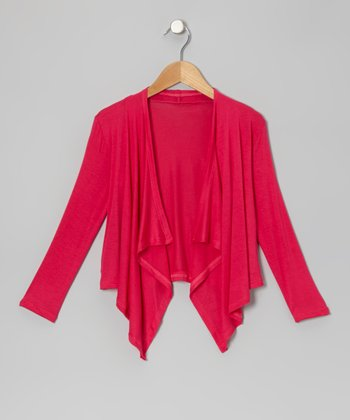 Pink Open Cardigan - Infant, Toddler & Girls