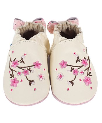 Natural Cherry Blossom Bootie