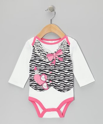 Hot Pink Zebra Bodysuit