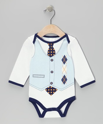 Blue Argyle Bodysuit