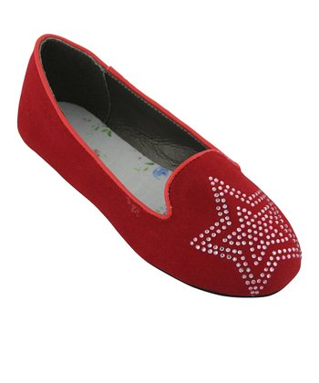 Red Rhinestone Star Flat