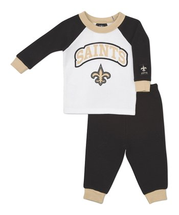 Gold New Orleans Saints Raglan Tee & Pants - Infant