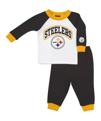 Yellow Pittsburgh Steelers Raglan Tee & Pants - Infant