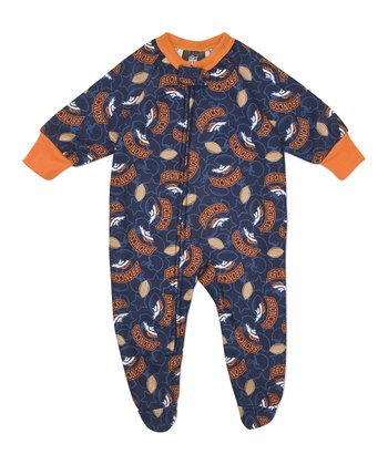 Orange Denver Broncos Footie - Infant & Toddler