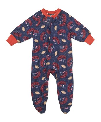 Blue New England Patriots Footie - Infant & Toddler