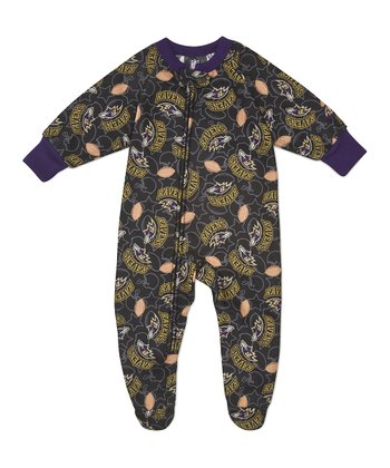 Olive Baltimore Ravens Footie - Infant & Toddler