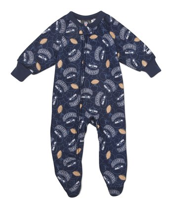Blue Seattle Seahawks Footie - Infant & Toddler