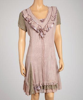 Saga Olive & Rose Short-Sleeve Dress