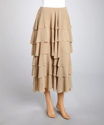 Saga Sand Tiered Skirt