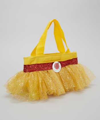 Yellow & Red Glitter Rose Tutu Lunch Bag