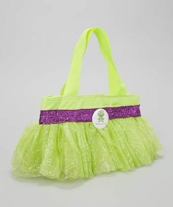 Green & Purple Glitter Frog Tutu Lunch Bag