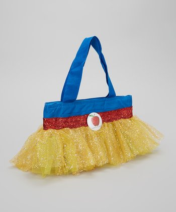 Blue & Yellow Glitter Apple Tutu Lunch Bag