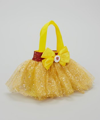 Yellow & Red Glitter Rose Tutu Bag