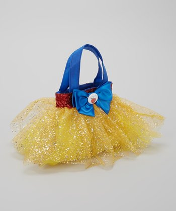 Blue & Yellow Glitter Apple Tutu Bag