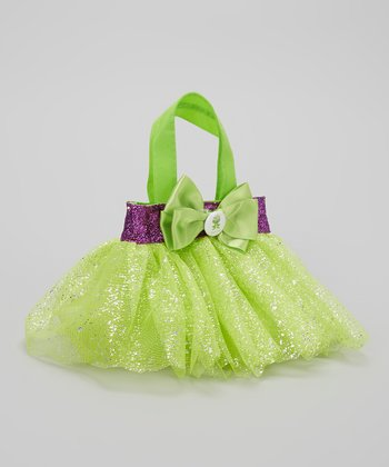 Green & Purple Glitter Frog Tutu Bag