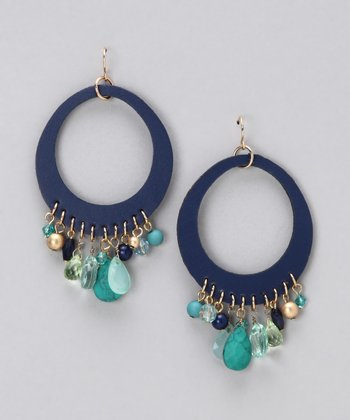 Blue Beach Glass Earrings