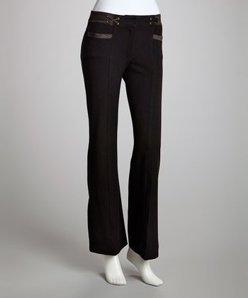 Black Pocket Trouser Pants