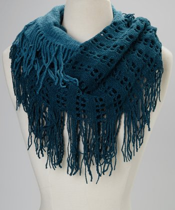 Blue Two-Tone Infinity Scarf