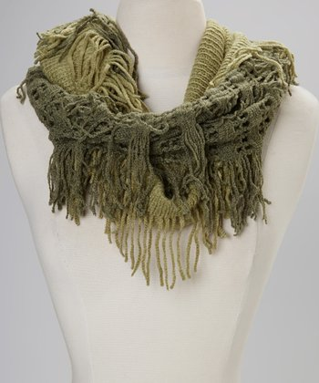 Green Two-Tone Infinity Scarf