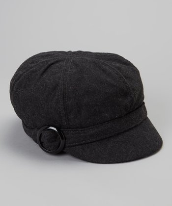 Dark Gray Muffy Newsboy Cap