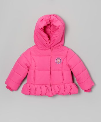 Pink Miku Zooper Puffer Coat - Infant & Toddler