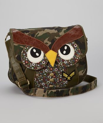 Green Owl Messenger Bag
