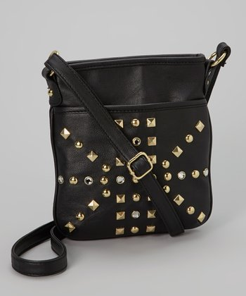 Black Studded Crossbody Bag