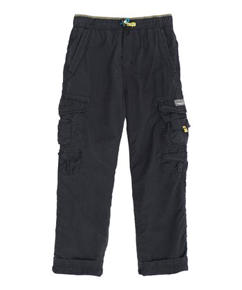 Black Cargo Pants - Boys