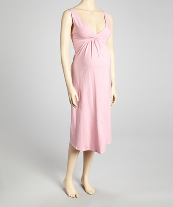 Pink Maternity & Nursing Nightgown - Women