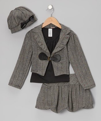 Gray Jacket Set - Girls