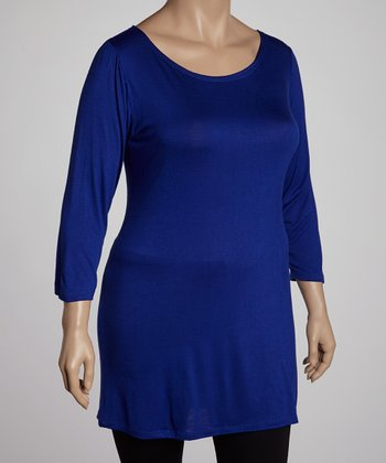 Royal Three-Quarter Sleeve Tunic - Plus